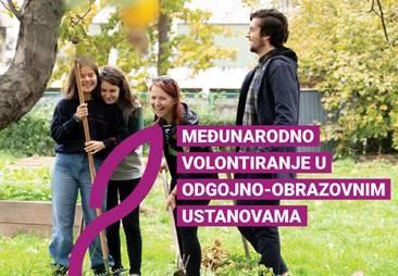 """Objavljena dvojezična brošura """"Međunarodno volontiranje u odgojno-obrazovnim ustanovama"""" - Slika 1"""